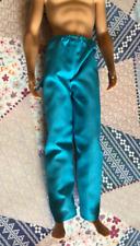 Ken Doll Turquoise Blue Doctor Nurse Scrubs Bottoms Lounge Sleep Pants Barbie