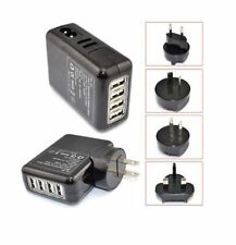 4 USB Port Travel Adapter With US/EU/UK/AU Plug Wall Charger for Mobile/iPad/TAB