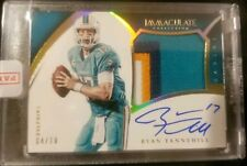 Ryan Tannehill Dolphins 15' Immaculate Collection 4 color Patch Auto Card 04/10!