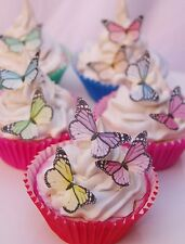 Edible Butterfly Cake Print Topper Monarch 30pc Valentines Child Birthday Party