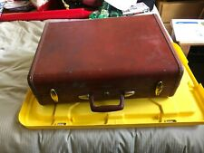 Vintage Samsonite Style 4932 brown hardside suitcase