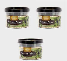lot 3 Savon Noir Huile D'olive 100% Naturel 3x250gr fabrique au maroc neuf