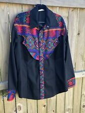 Mens Vintage Western Snap Shirt Long Sleeve Xxl Joe & Bettys Custom
