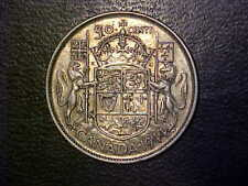 1944 CANADA SILVER 50 CENTS NEAR 4 - HIGH GRADE CIRC VARIETY COIN! -d1161sut2