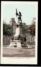 1901 Statue of Maisonneuve Montreal Quebec Canada postcard