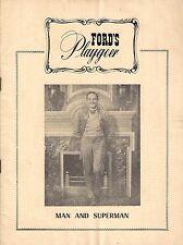 "Maurice Evans ""MAN and SUPERMAN"" Bernard Shaw / Morton DaCosta 1948 Baltimore"