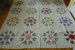 "NEW Handmade Stars Pattern Quilt  91"" x 91"""