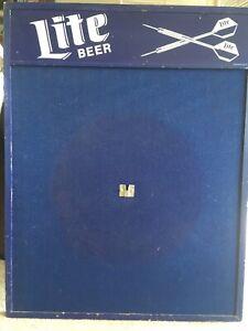 Vintage Nos Lite Beer Dart Board Backboard Wall Protector Man Cave Bar