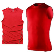 Mens Gym Compression Armour Under Base Layer Tank Tops Sports Tight T-Shirt Vest
