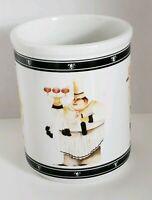Jennifer Garant Fat Chef Utensil Crock Holder Ceramic Whimsical Cypress Home BIG