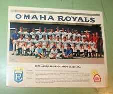 1975 OMAHA ROYALS MINOR LEAGUE BASEBALL TEAM PHOTO  sponsored by RED BARN