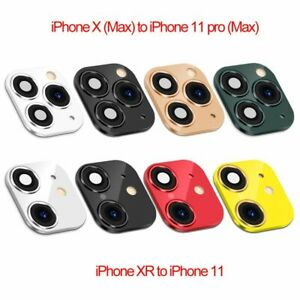 Fake Camera Lens Sticker Cover Protector for iPhone XR X Change to 11 Pro Max//