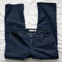 Womens Chico's Platinum Denim Jeans Ultimate Fit Boot Leg Size 1.5 Short