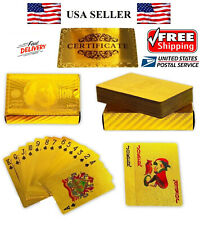 NEW Certified 24K GOLD Foil PLATED Poker PLAYING CARDS Deck Collection US Dollor