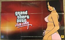 XBOX PS2 * GRAND THEFT AUTO VICE CITY MAP AND POSTER - MAP ONLY - GTA VICE CITY
