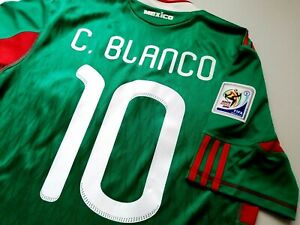 Jersey mexico cuauhtemoc Blanco 2010 adidas (S) Club America world cup green