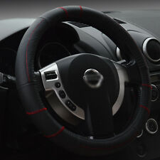 For M 15''/38cm Auto Car True Genuine Leather Steering Wheel Cover All Weather