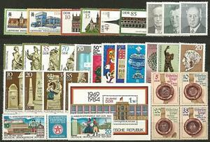 Germany (East) DDR GDR 1984 MNH Collection Commemorative Stamps Minisheets