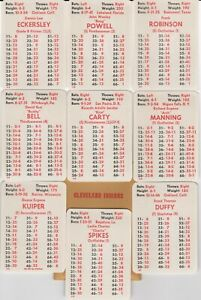 CLEVELAND INDIANS 1975 APBA 24 Card Team Set- NM/MT- ECKERSLEY- POWELL- HENDRICK
