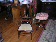 very rare one of a kind antique quartersawn oak slipper chair