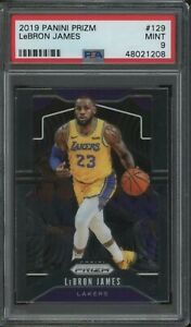 2019-20 Panini Prizm Lebron James #129 PSA 9 Lakers Jersey INVEST NOW! GRADED