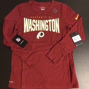Washington Redskins The Nike Tee Dri Fit Long Sleeve Size M 10/12 §P17