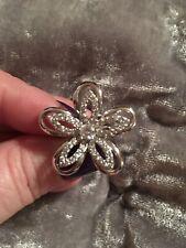 Zirconia Daisy/Flower Burst Ring 7🌼🌼 🌼🌼Sterling Silver 925 Sparkling Cubic