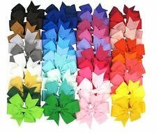 girl hair clips bow red green blue black school and party festival Christmas