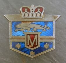 HTF 1940's Canadian Ford Mercury Monarch Car Emblem/Badge Porcelain/Enamel Crest