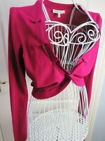 LAURA ASHLEY Pink Shrug Cardigan Bolero 12 Occasion Party Cover Up Evening Knit