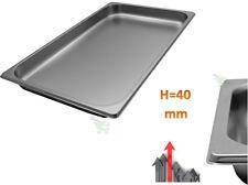 Vaschetta bacinella recipiente Aisi 304 acciaio inox per alimenti 53X32X h 4 cm