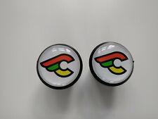 Cinelli white black Plugs Caps Tapones guidon bouchon lenker vintage style 3D