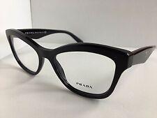 New PRADA VPR 2R9 1AB-1O1 54mm Black Cats Eye Women's Eyeglasses Frame  #7
