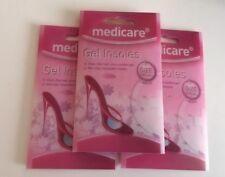 3x Plantillas de Gel de Medicare 1 Talla única plantilla en un paquete de 2