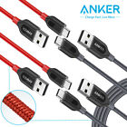 2xAnker Powerline+ USB Type C Charger Cable Fast Charging Sync for Samsung 3/6ft