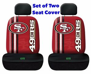 San Francisco 49ers NFL Printed Logo Car Seat Cover-Set of Two