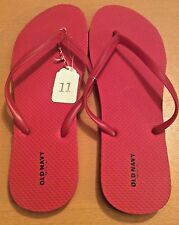 Old Navy NWT Woman's Red Flip Flops Size 11 Thong Sandals