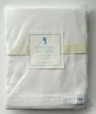 """Pottery Barn Kids Pbk White Essential Twin 18"""" Bed Skirt"""