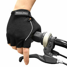 PEDALPRO GEL PADDED FINGERLESS CYCLING GLOVES FOR BICYCLE/BIKE/BMX HALF FINGER