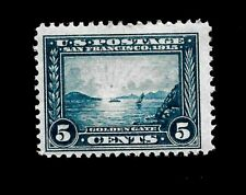US 1913  Sc# 399 Golden Gate Pan-Pac Mint H - Vivid Color - Centered