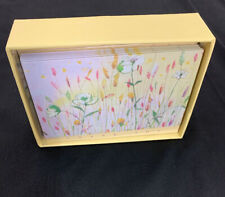 Meadow Flower Thank You Notes W Envelopes Yellow NEW