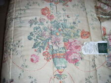 RALPH LAUREN Full/Queen Comforter VILLANDRY FLORAL 450tc Cotton EUC LOVELY RARE!