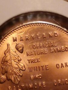 UNCIRCULATED ERROR COIN! United states Official Nature Symbols - Maryland.