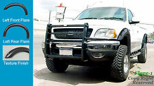 FENDER FLARES POCKET RIVET Style 97-03 Ford F-150 TEXTURED 4pc STYLESIDE ONLY
