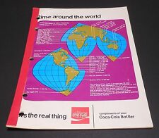 "Vintage Coca Cola Early 1970's School Tablet ""Time around the World"""