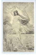 (Lq313-387) Artist Drawn, Angel/Girl on Water, Art Nouveau, 1902  Eva Daniell