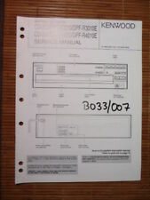 MANUAL DE SERVICIO Kenwood cd-203/204 ,dpf-r3010/R4010, original