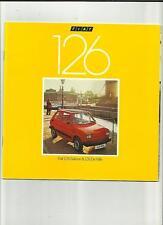 FIAT 126 BERLINA E DE VILLE SALES BROCHURE aprile 1981