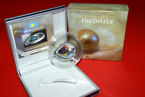 Palau 2011 PEARL OYSTER Shells of the Sea Hologram Convex Silver 5$