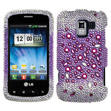 LG Enlighten Optimus Q Slider Crystal Diamond BLING Case Phone Cover Universe